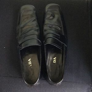 Prada men's leather loafers